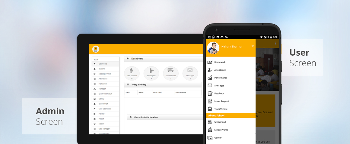 ERP with mobile App